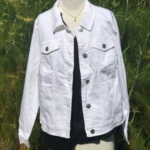 Lane Bryant White denim jacket